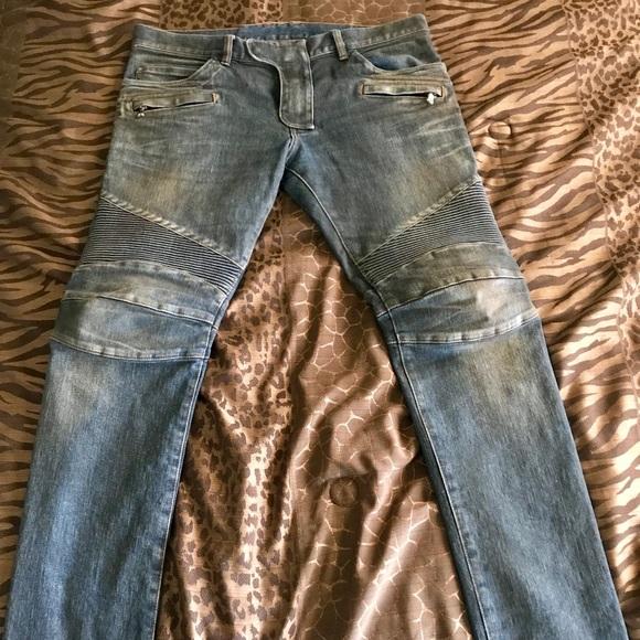 f7ad039d Balmain Jeans | Paris Blue Denim Biker T551 B658 | Poshmark